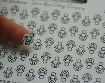 55 Baby Stickers - Planner/Calendar/Icon Stickers - Day Care/Nanny/Babysitter - ECLP Day Designer Filofax - Made in Medina, Ohio, USA!
