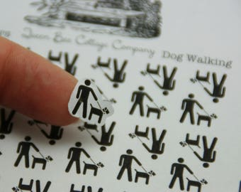 36 Dog Walking Stickers - Planner/Calendar/Chore Chart Stickers - Icon Stickers - ECLP Day Designer Filofax - Made in Medina, Ohio, USA!