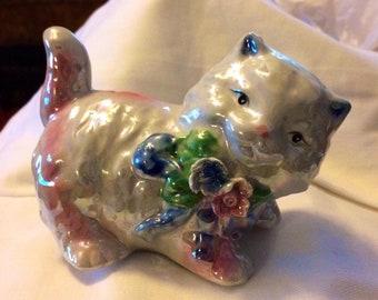 Hand painted Porcelain Tortoiseshell Kitten Necklace