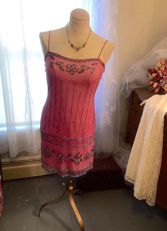 Betsey Johnson Beaded  Slip Dress  -  Size 6 - Be… - image 1