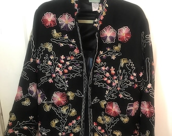 Vintage 220 Hickory Embroidered Jacket in Size Large