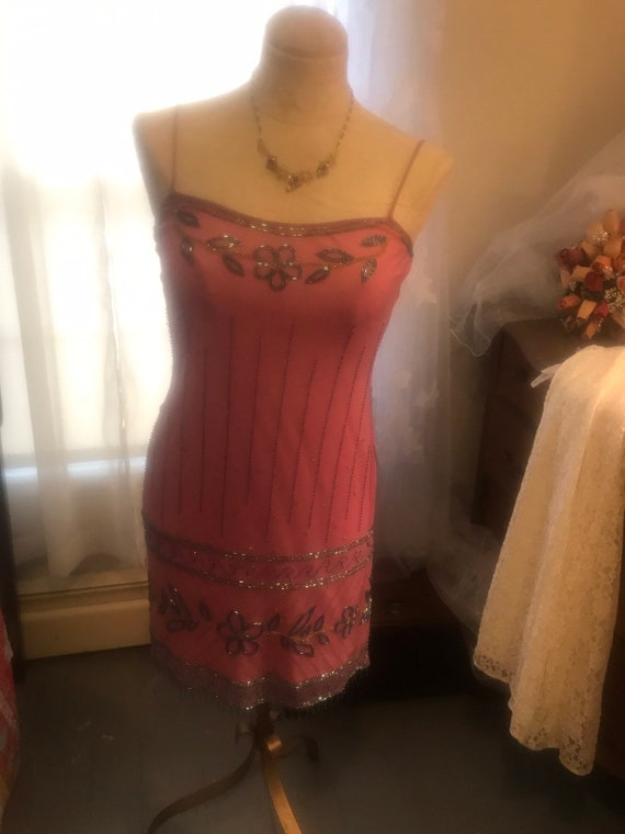 Betsey Johnson Beaded  Slip Dress  -  Size 6 - Be… - image 4