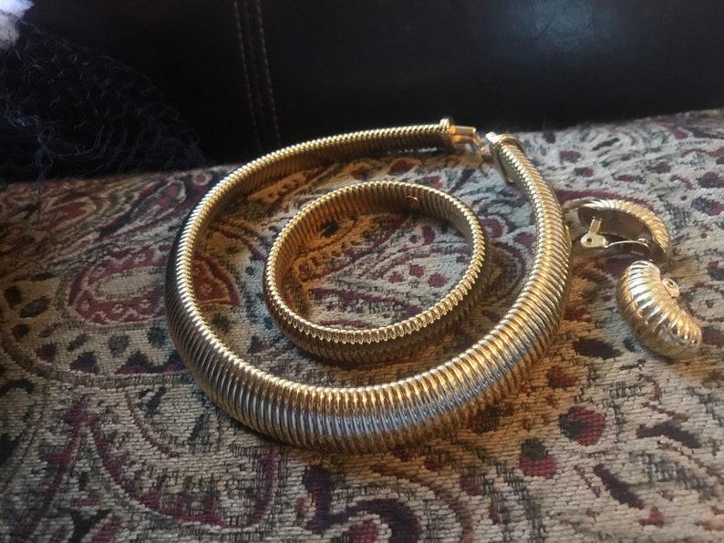 Vintage Monet Necklace Earrings and Bracelet Set