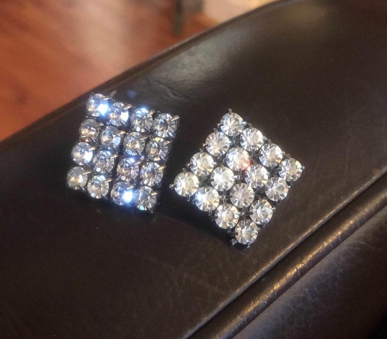 0c46df975 Rhinestone Earrings Hollywood Glam Style Vintage Diamond | Etsy