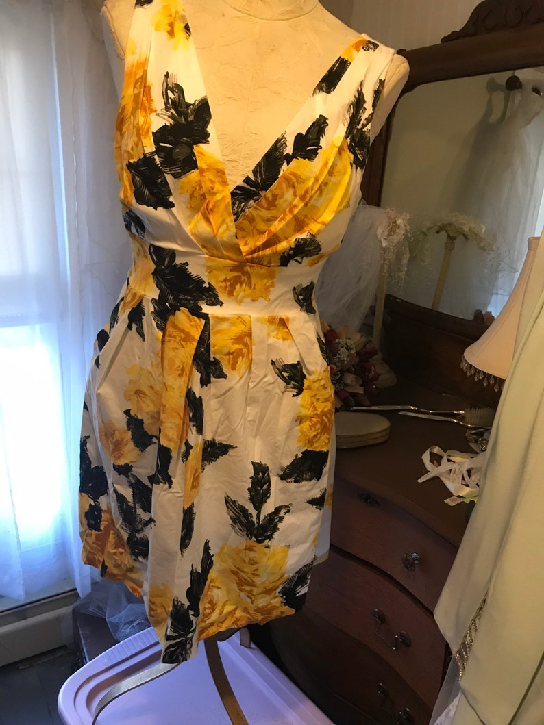 Vintage Corey P Flowered Dress in Size 8 Bohemian Style