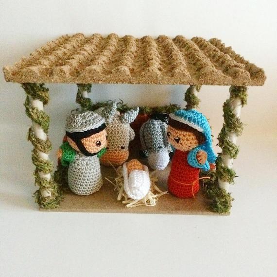 Articoli Simili A Nativitá Amigurumi Scena Della Nascita Di Gesù