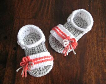 Crochet pattern baby sandals flower Photo Tutorial  Instant Download Nr.31