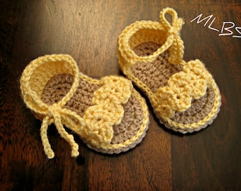 Crochet pattern baby sandals Photo Tutorial US terminology PDF Instant Download Nr.19