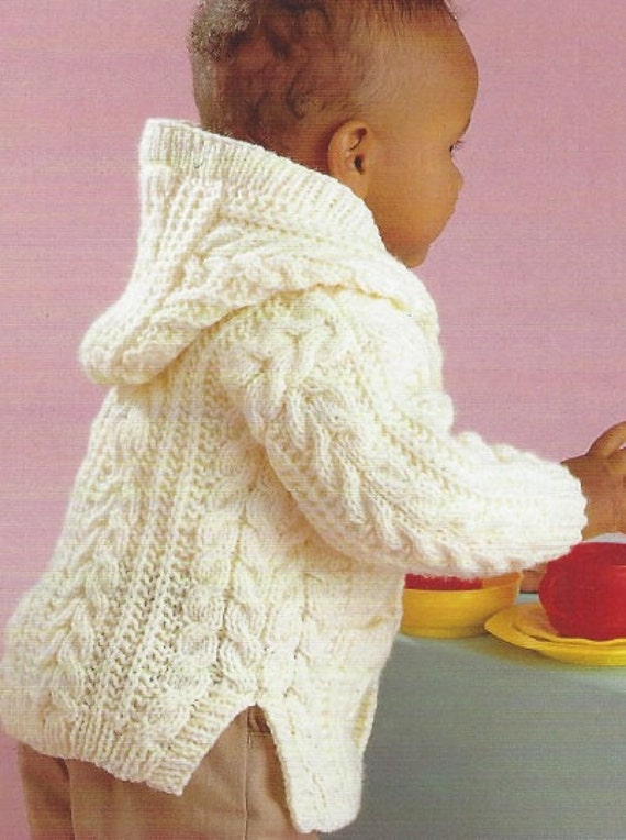 a18e096356ef Knitting pattern baby aran cardigan Childrens jacket cable 0-8