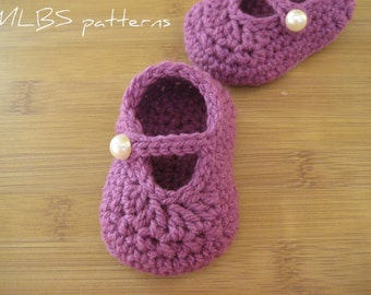 Crochet pattern baby shoes  Mary Janes PDF Instant Download Nr.32