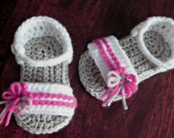 Baby sandal crochet pattern sandals with flower  Photo Tutorial  Instant Download Nr.31