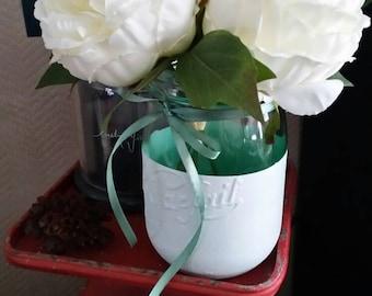 """Vase """"The perfect"""" blue satin Provence #leparfait #masonjar #mariage"""