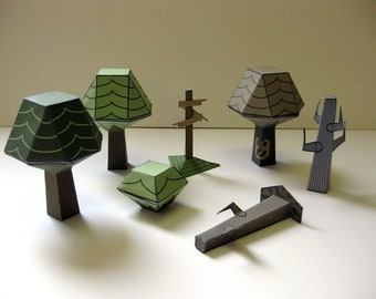 Treeprops paper toys