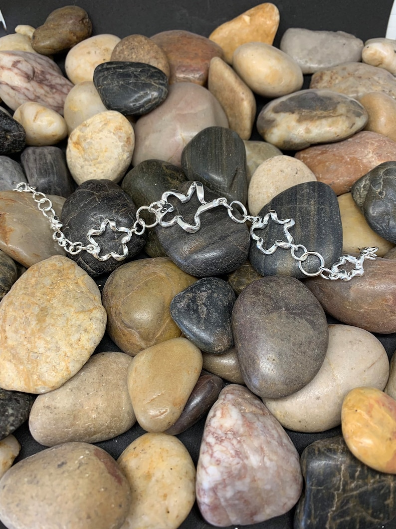 Silver plated twisted silver bracelet