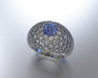 Cushion Cut Tanzanite Statement Ring