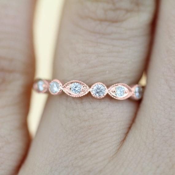 Art Deco Diamond Eternity Wedding Band