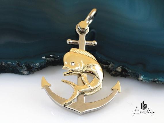 Mahi-Mahi Solid Gold Necklace