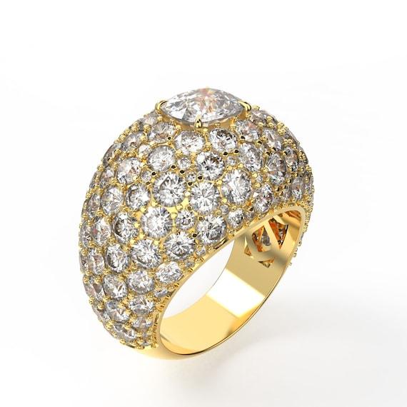 Cushion Cut Diamond Statement Ring