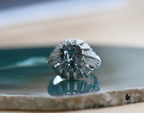 Cushion Cut Spinel Statement Ring