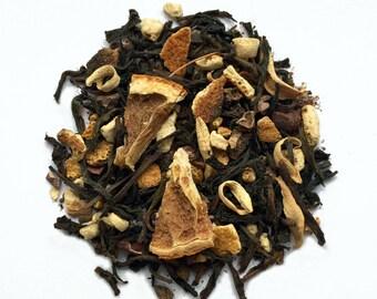 Chocolate Orange Black Tea: Orange Chocola-Tea, chocolate tea, ceylon tea, loose tea, tea gift, gift for tea lover, gift for chocolate lover