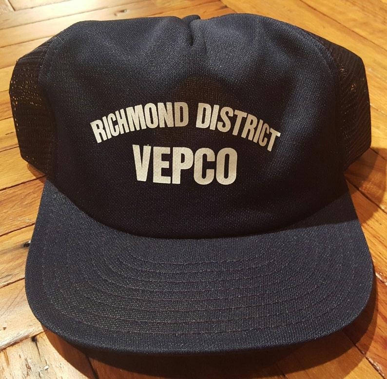 450c48f086a Vintage Trucker Hat Vintage Hat Snapback Hat Vepco Richmond