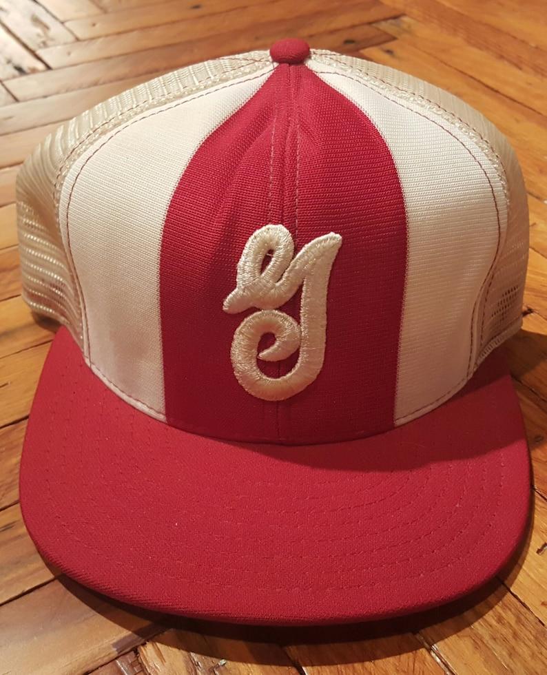 e97ec0f76ff Vintage Hat Vintage Trucker Hat Snapback Hat Little League Hat