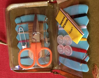 Travel Sewing Kit with scissors, new