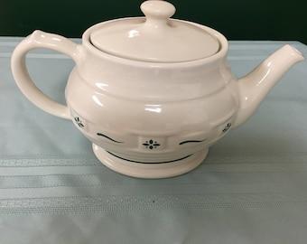 Longaberger Tea Pot, new in original box, nice piece!
