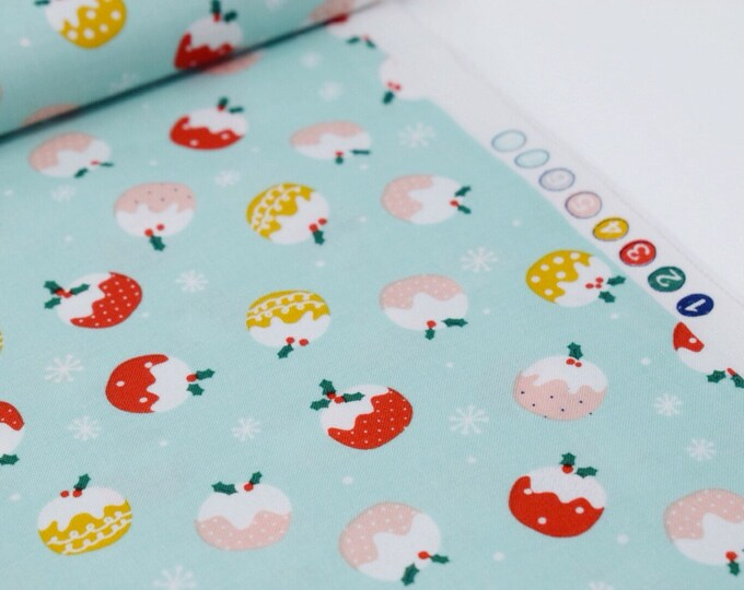 FREE SHIPPING FABRIC  I  Dashwood christmas fabric  I  Christmas pudding fabric