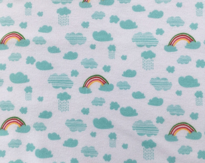 RICO rainbow and rain knitted cotton jersey