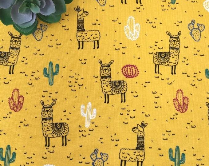 Llama print jersey fabric  -  Fabric for childrens clothes - llama print fabric  -  Children's printed jersey