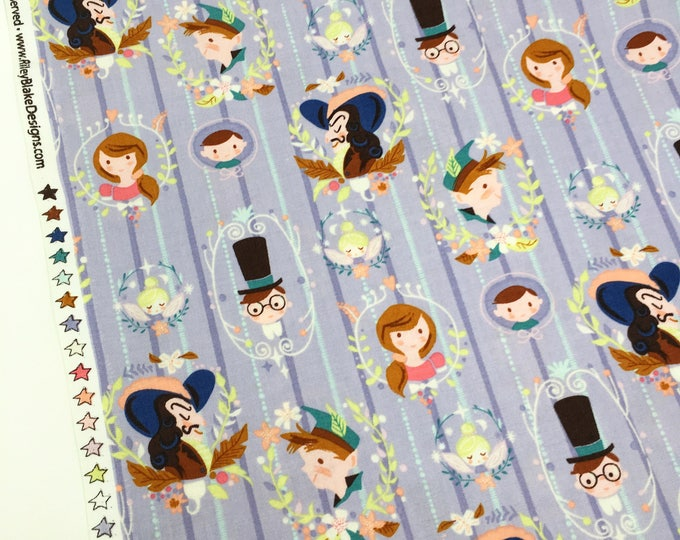 Riley Blake Neverland Peter pan printed cotton - Peter pan childrens fabric by the metre