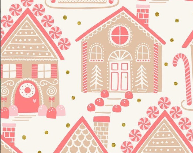 Blend Christmas fabric, Christmas fabric, Blend fabric, Kringles sweet shop, Maude Asbury, gingerbread fabric, christmas fabric