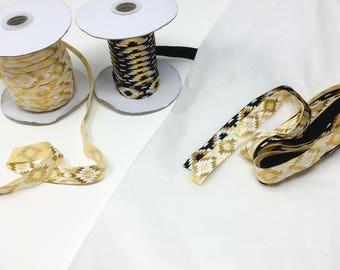 Metallic gold foil Modern geo elastic