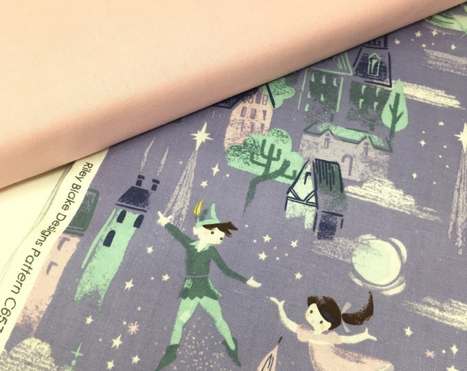Riley Blake peter pan printed cotton - Neverland quilt fabric - Printed fabric for nursery decor