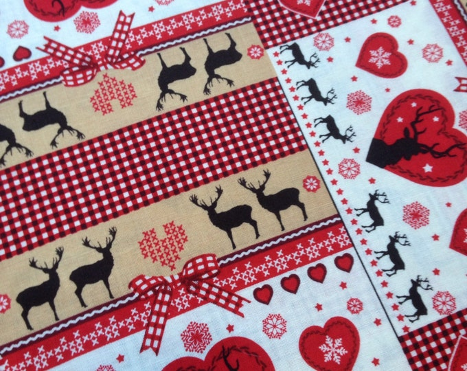 Christmas fabric  I  Scandi Christmas fabric  I  Christmas fabric by the metre