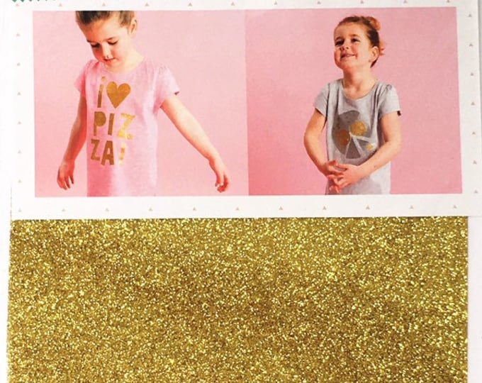 Rico Design Gold Glitter Iron on Transfer Sheet - DIY Gold Iron On Transfer