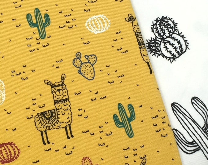 Llama print jersey fabric  -  Fabric for childrens clothes - llama print fabric  -  Children's printed jersey