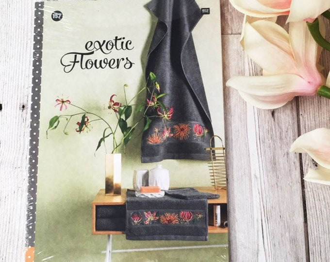 Rico Design Book Cross stitch embroidery design book Exotic Flowers no 157