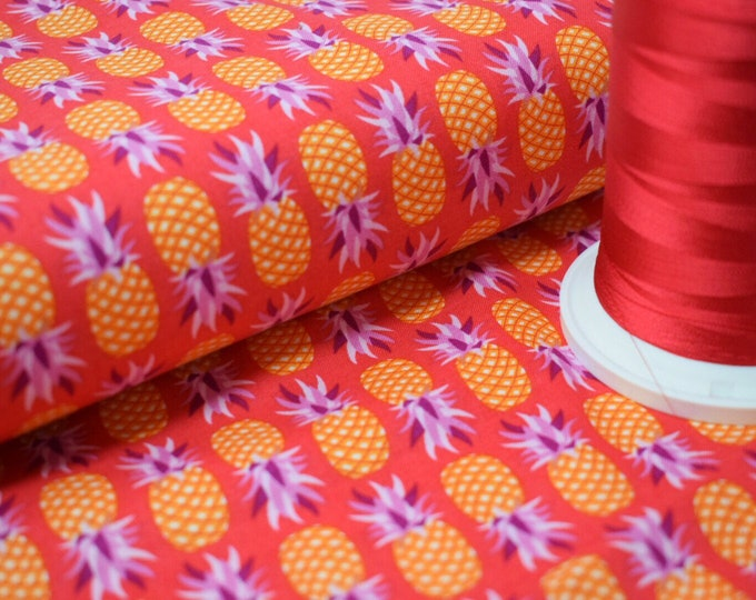MICHAEL MILLER FABRIC, Party like a pineapple, ananas fabric, print cotton, pineapple cotton, pineapple print, summer fabric