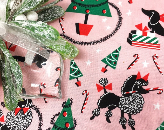 Michael Miller fabric -  Christmas fabric  -  Michael miller christmas fabric  -  Canine Christmas cotton