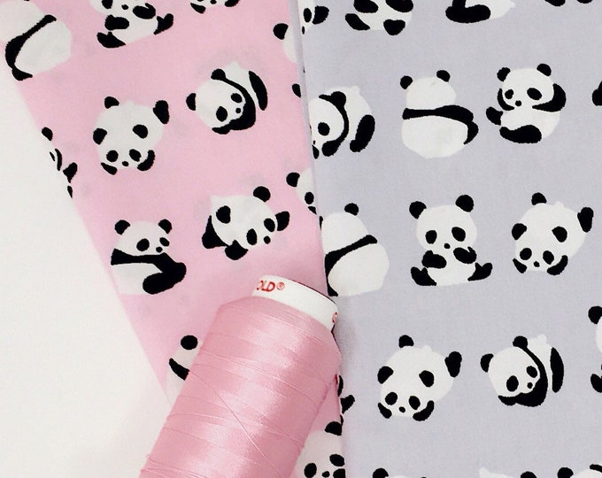 Fat quarter  bundle - Panda print fat quarter bundle - Quilting fabric panels