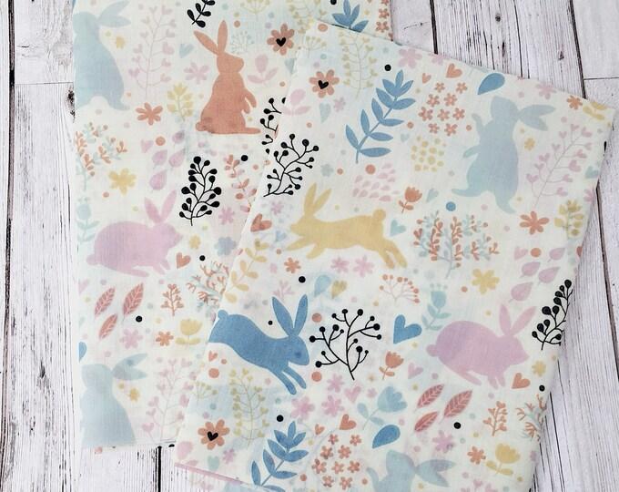 Woodland animals quilting fabric - Woodland nursery fabric  -  Woodland fabric fat quarter uk