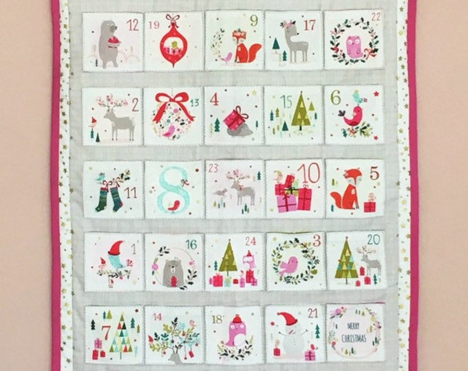 Advent Calendar - Advent Panel - Christmas crafting - Christmas Advent - Dashwood Calendar - Christmas Calendar Kit - Free Shipping Fabric