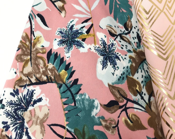 Floral print satin  I  Painted floral fabric  I  Satin fabric by the metre  I  Printed lingerie fabric