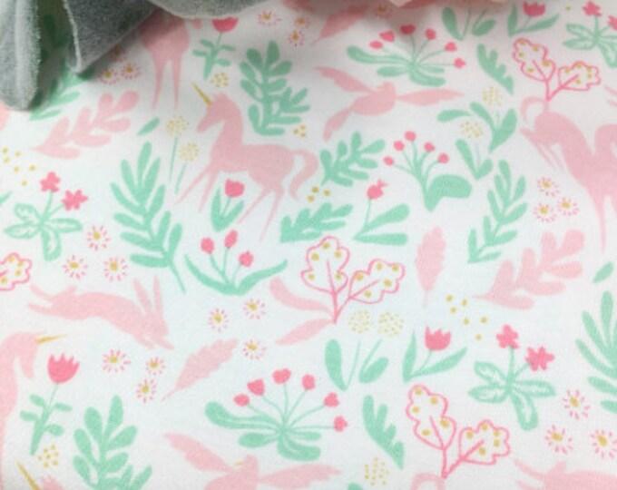 Michael Miller Jersey Knit Fabric- Michael Miller Printed Jersey - Michael Miller Unicorn Fabric
