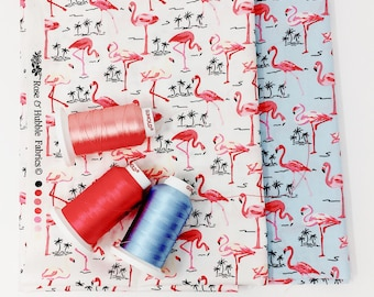 Pink flamingo fat quarter bundle - Quilting fabric bundle -  Fat quarter bundle UK
