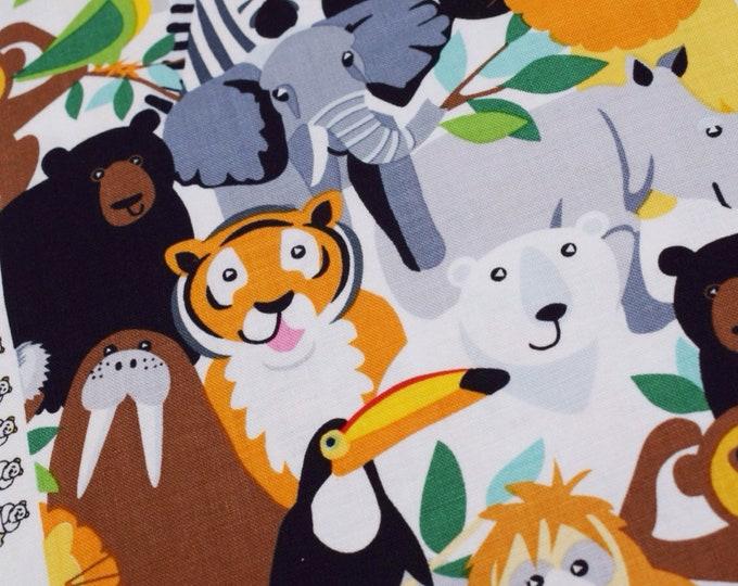 Studio E fabric, Little explorers, animal fabric, animal cotton, jungle fabric, zoo fabric, fabric by the metre,kids fabric, quilting cotton