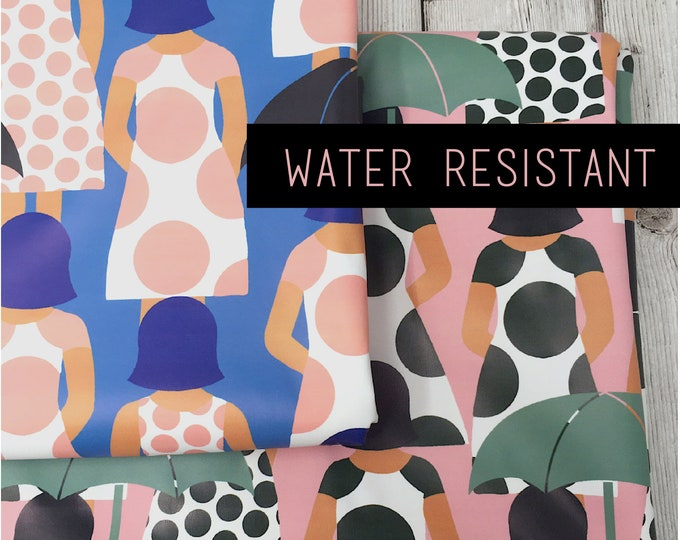 Water resistant fabric - Waterproof fabric for raincoats - Waterproof coat fabric - Water resistant puddlesuit fabric by the metre