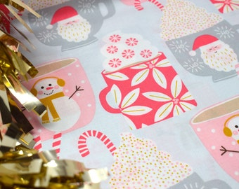 Christmas fabric  -  Christmas fabric by the metre  -  Kringle sweet shop  -  Christmas shop